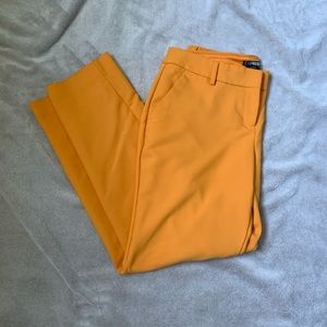 EUC! Express columnist ankle pant in golden yellow